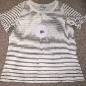 princess polly white & black stripped shirt